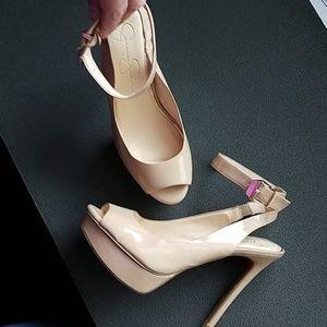Jessica Simpson high heels peep toe
